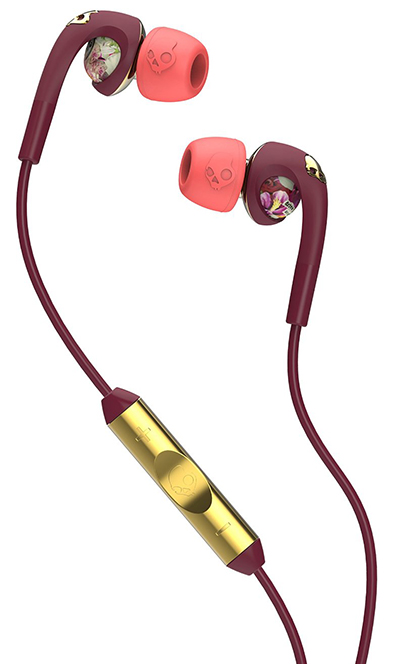 Skullcandy-S2FXGM-432-Bombshell-Floral-Plum-Coral-Gold-Earphone-with-Mic