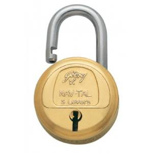 2 Godrej Locks Navtal 5 Levers - 3 Keys (Brass)