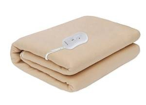 3 Pindia Single Bed Heating Electric Blanket Polar Fleece - 150 X 80 Cm Beige