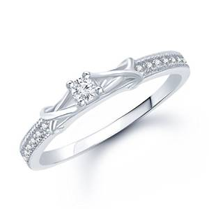 vk jewels fancy cz rhodium plated ring - fr1049r [vkfr1049r]