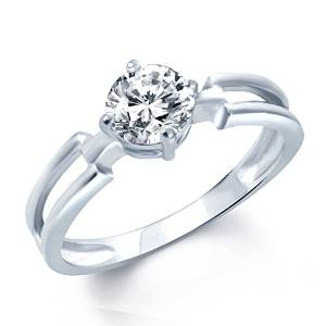 vk jewels fancy two lines rhodium plated solitare ring - fr1027r [vkfr1027r]